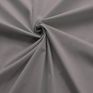 SALE 45″ Broadcloth Fabric Silver, by the yard