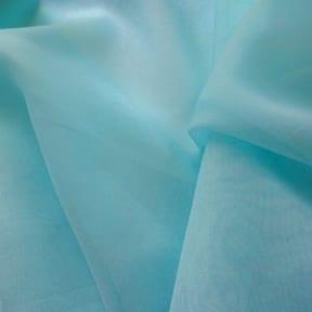 Fire Retardant Fabric 118″ Voile Aquamarine, by the yard