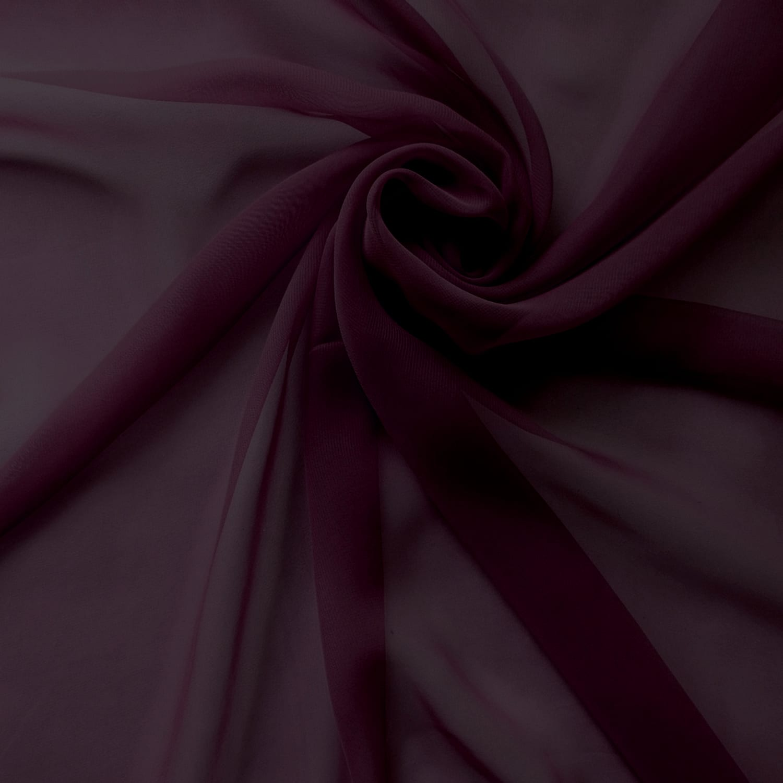 Fabric By The Yard Eggplant Silk Chiffon