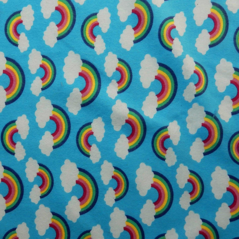100/% Cotton rainbow flannel fabric 40.5\u201d wide