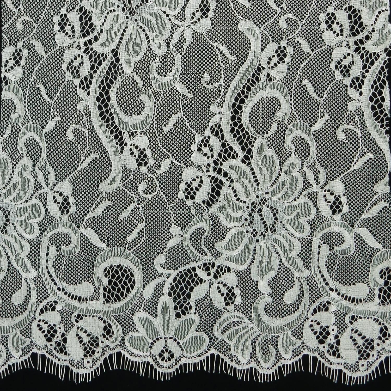4 Yards Paloma Bridal Chantilly Lace Fabric 28 Chrome Silver Fabric Direct