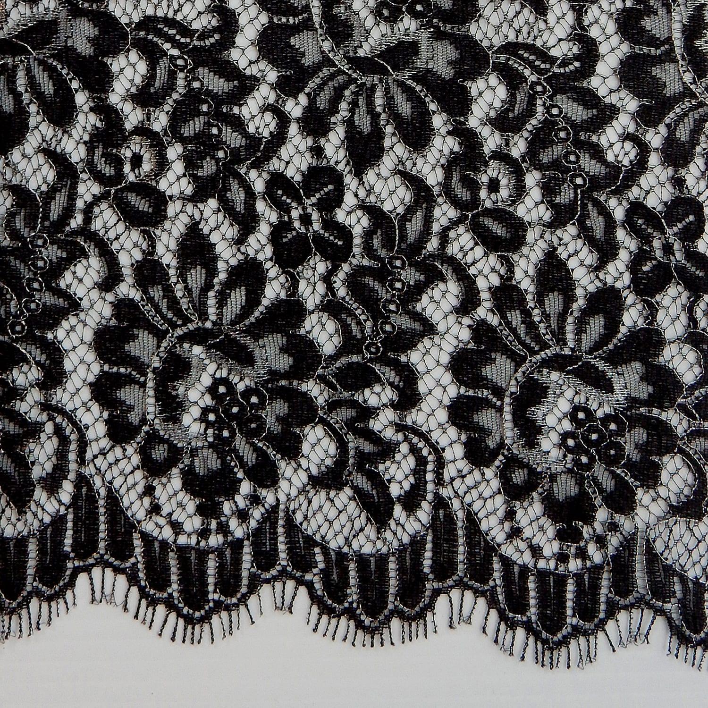 4 Yards Paloma Bridal Chantilly Lace Fabric 15 Black Silver Fabric Direct