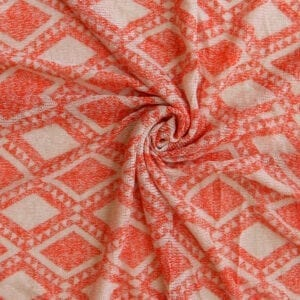 SALE Hacci Argyle Sweater Knit Fabric 516 Poppy Gray, by the yard Fabric Direct