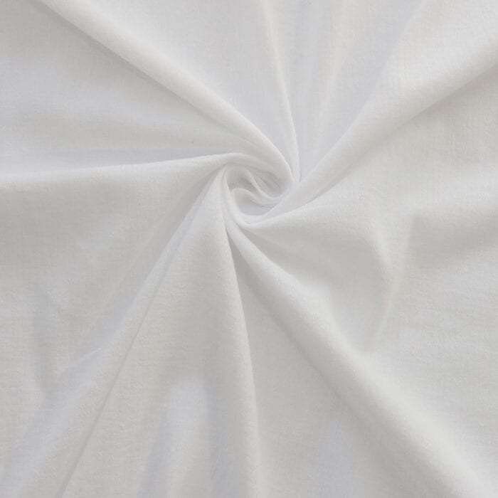 100% Cotton Gauze Fabric White, by the yard