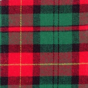 Flannel Yarn Dyed Plaid Fabric Tartan Hunter/Wine, by the yard