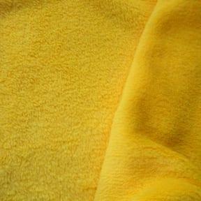 Double-Sided Minky Fleece Fabric Yellow, by the yard