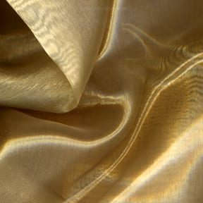 SALE Mirror Organza Fabric Light Gold, by the yard