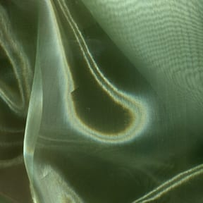 SALE Mirror Organza Fabric Sage, by the yard