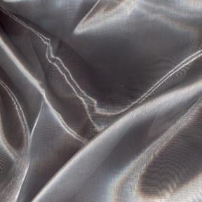 SALE Mirror Organza Fabric Silver, by the yard