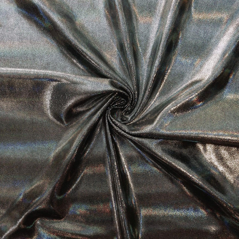 4 Way Stretch Silver Foil Lame Spandex