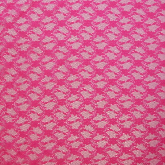 SALE Stretch Floral Lace Fabric 2300 Vibrant Azalea, by the yard