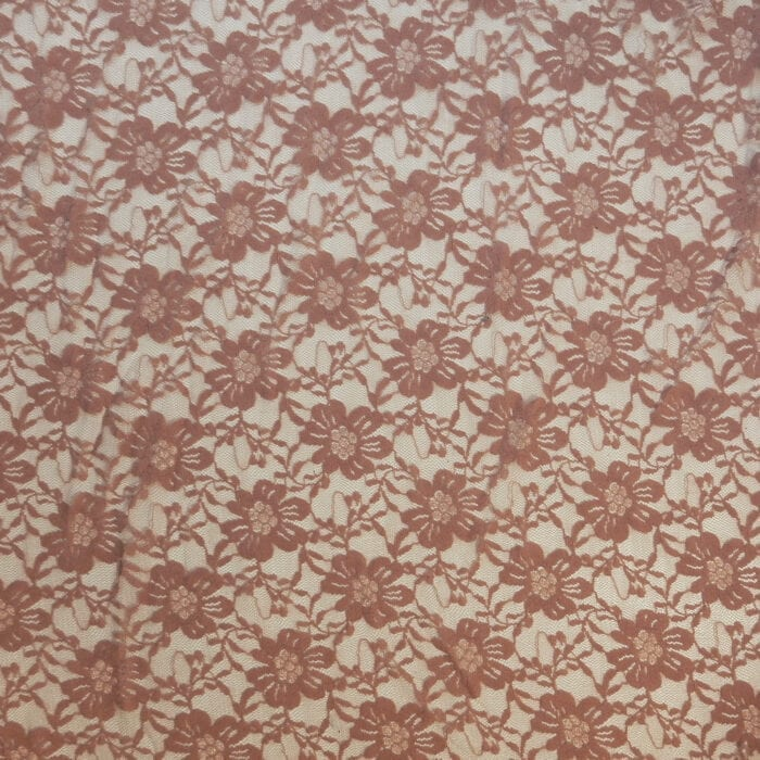 SALE Stretch Floral Lace Fabric 2312 Dusty Mauve, by the yard