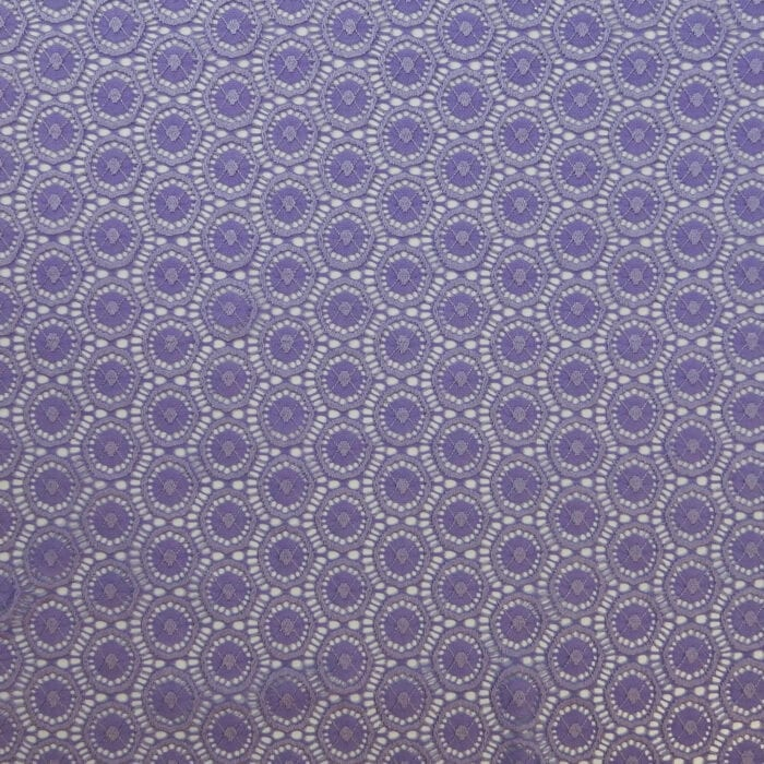 SALE Stretch Geometric Lace Fabric 2321 Lavender, by the yard