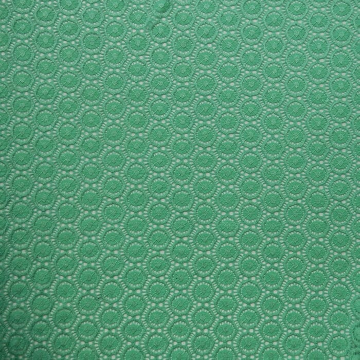 SALE Stretch Geometric Lace Fabric 2322 Bold Mint, by the yard