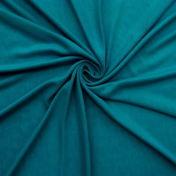 SALE Stretch Rayon Jersey Fabric 2615 Peacock, by the yard