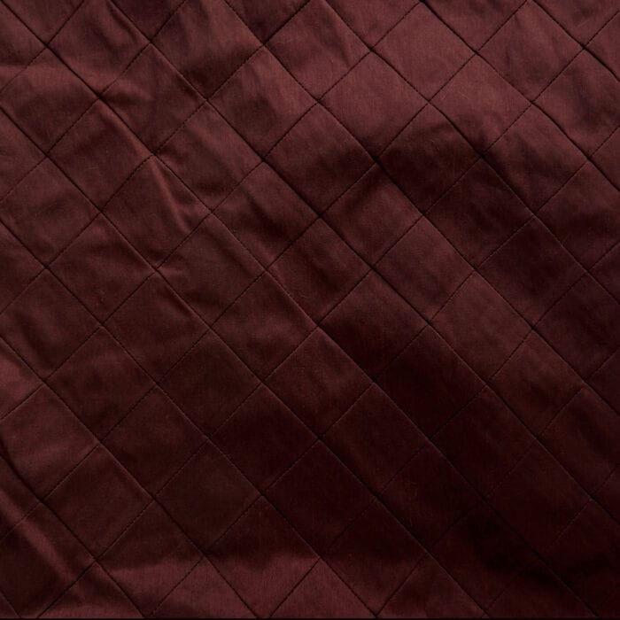 SALE Faux Silk Fabric Embroidered Pintuck 26 Burgundy, by the yard