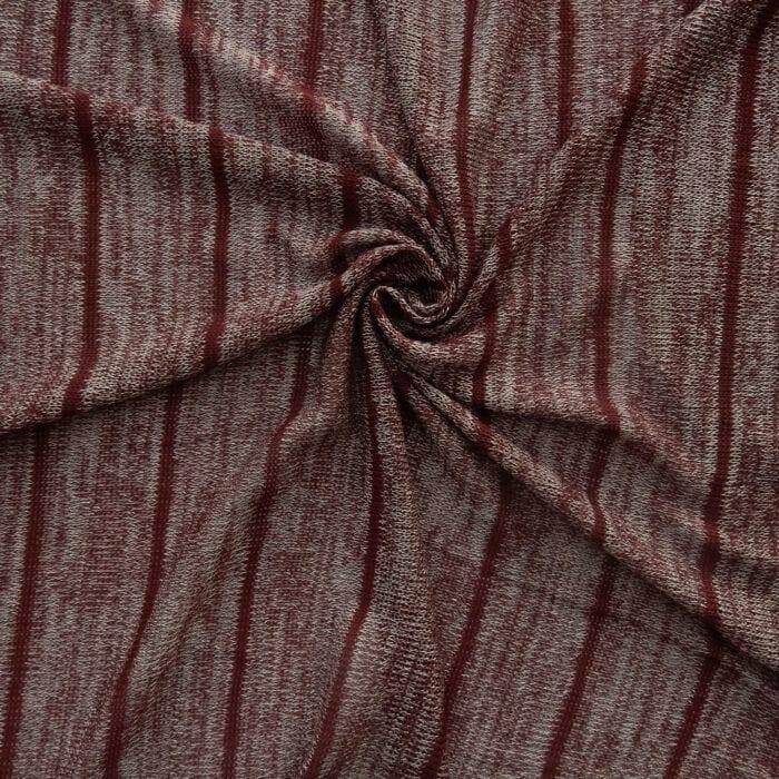 1.78 Yards Sweater Knit Fabric XS221 Wine/Gray